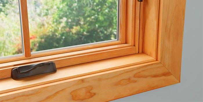Дизайн окна из древесины