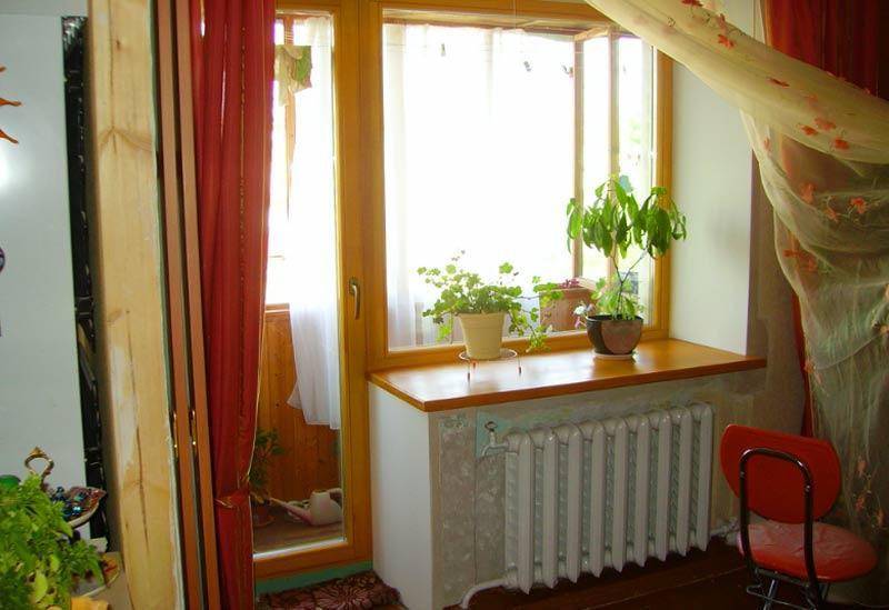 Пример балконного входа