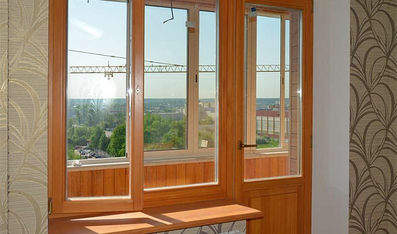 Экологичный балконный блок